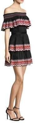 DAY Birger et Mikkelsen AMUR Tansy Embroidered Hem Fit-&-Flare Dress