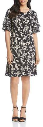 Karen Kane Mixed Floral-Print Dress