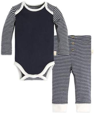Burt's Bees Stripe Organic Baby Cotton Bodysuit & Pant Set