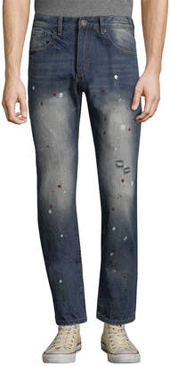 Mostly Heard Rarely Seen Mosaic Splatter Slim Pant
