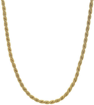 JCPenney FINE JEWELRY Mens Stainless Steel & Gold-Tone IP 24 4mm Rope Chain