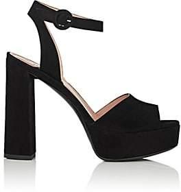 Barneys New York Women's Suede Ankle-Strap Platform Sandals - Black