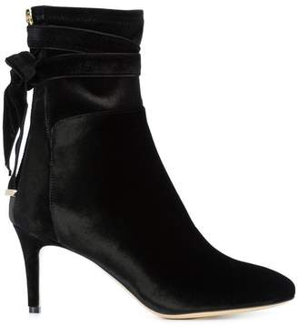 Monique Lhuillier tie detail stiletto boots