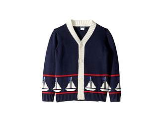 Janie and Jack Sailboat Cardigan Sweater (Toddler/Little Kids/Big Kids)