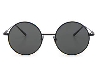 Acne Studios Scientist Sunglasses in Black Satin & Black | FWRD
