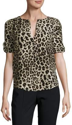Joie Women's Leopard-Print Silk Blouse