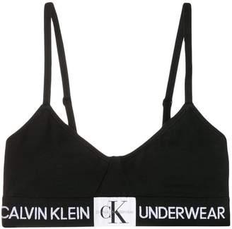 Calvin Klein Underwear Monogram logo triangle bra