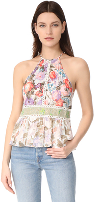 Rebecca Taylor Sleeveless Mixed Print Tank $250 thestylecure.com