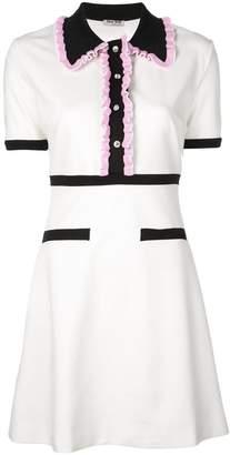 Miu Miu (ミュウミュウ) - Miu Miu フリルトリム ポロシャツドレス