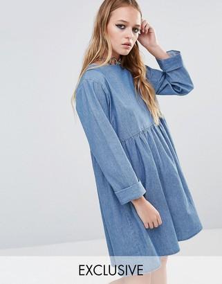 Reclaimed Vintage Denim Smock Dress $58 thestylecure.com