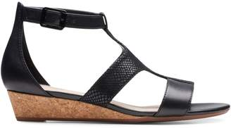 Clarks Collection By Abigail Lily Ankle-Strap Leather Wedge Sandals