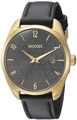 Nixon Women's 'Bullet' Quartz Metal and Leather Watch