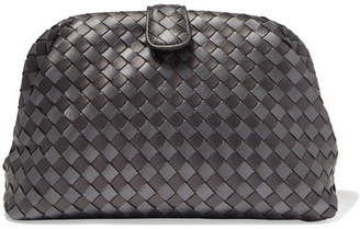 Bottega Veneta Lauren 1980 Metallic Intrecciato Leather Clutch - Gunmetal