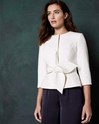 Ted Baker PPOLLY Structured bow waist jacket
