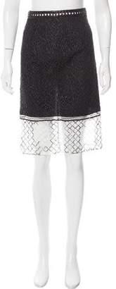 Jonathan Simkhai Embroidered Mesh Skirt