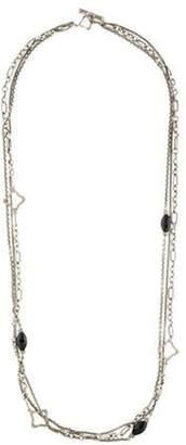 Bijoux Onyx & Diamond Multi Strand Necklace silver Bijoux Onyx & Diamond Multi Strand Necklace