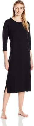 Shadowline Women's Nightgown-3/4 Sleeve Loungewear