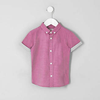 River Island Mini boys pink RI short sleeve shirt