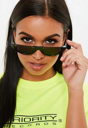 Missguided Black Half Moon Sunglasses