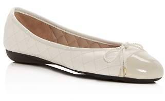 Paul Mayer Women's Best Quilted Leather Cap Toe Ballet Flats