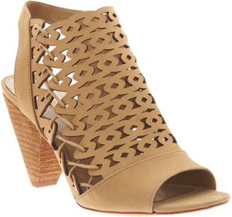 Vince Camuto Nubuck Cut-Out Heeled Sandals- Emberla