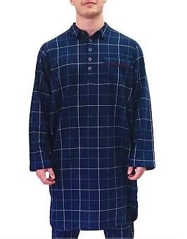 David Jones Flannel Window Pane Night Shirt
