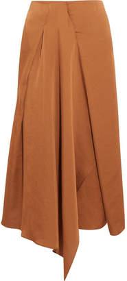 Vanessa Bruno Hilaria Draped Satin Midi Skirt - Copper