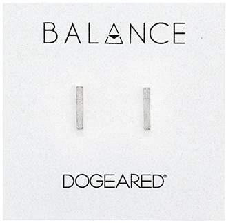 "Dogeared Balance"" Flat Bar Stud Earrings"