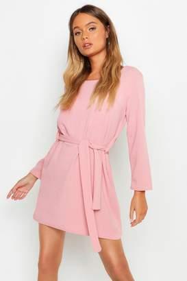 Pink Tie Belt Dresses - ShopStyle UK b0bc0499fa