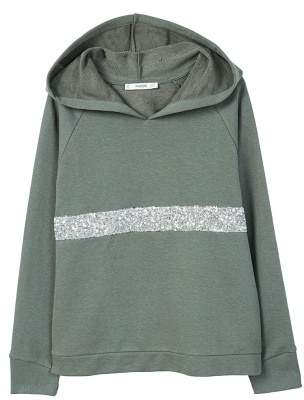 MANGO Sweatshirt embroidered with sequins