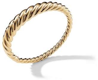 David Yurman 18kt yellow gold Pure Form Cable bangle