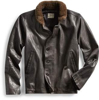 Ralph Lauren Shearling-Trim Leather Jacket