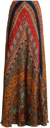 Etro Milano paisley-print silk maxi skirt