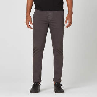 DSTLD Mens Skinny-Slim Selvedge Chino Pant in Charcoal