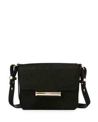 Jason Wu Diane Mini Calf-Hair Crossbody Saddle Bag, Emerald $2,295 thestylecure.com