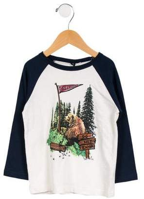 Stella McCartney Boys' Bear Graphic Long Sleeve Shirt