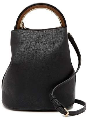Urban Expressions Vegan Leather Ring Handle Bucket Bag