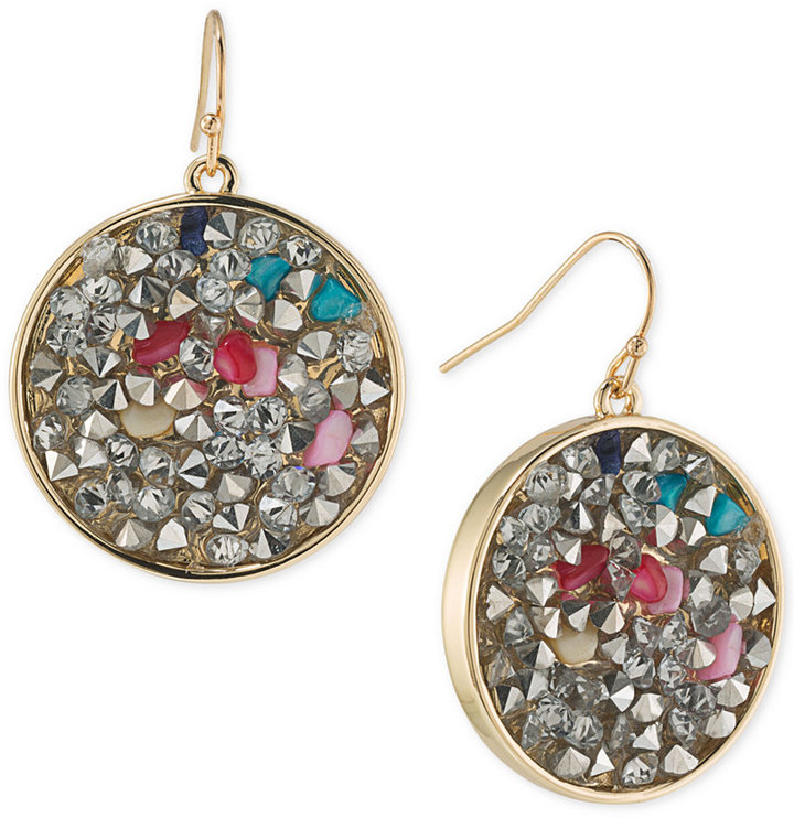 ABS By Allen Schwartz ABS by Allen Schwartz Gold-Tone Mixed Stone Drop Earrings