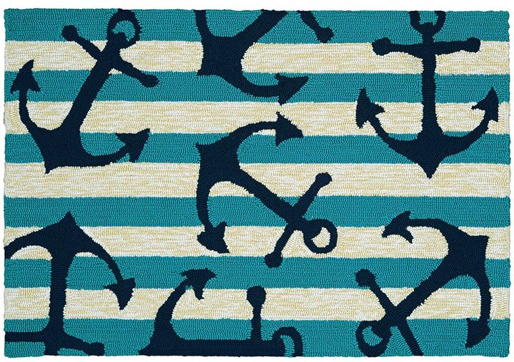 Couristan Couristan Covington Accents Anchors Away Indoor Outdoor Rug - 2' x 3'
