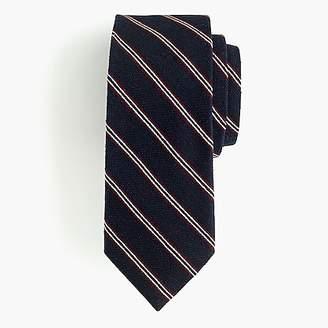 J.Crew Ludlow bourette silk tie in stripe