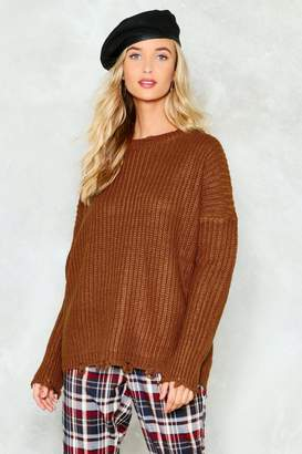 Nasty Gal Foolish Beat Ribbed Sweater