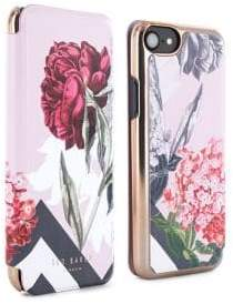 Ted Baker Carolyn Floral iPhone 6, 6s, 7 and 8 Mirror Folio Case