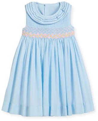 Luli & Me Smock Dress w/ Ruffle Neck, Size 2-4T