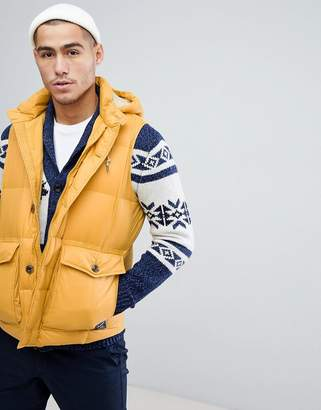 Abercrombie & Fitch Puffer Tank in Yellow