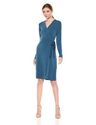 482cfcc3 Lark & Ro Amazon Brand Women's Signature Long Sleeve Wrap Dress