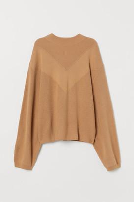 H&M Knit Dolman-Sleeved Sweater - Beige