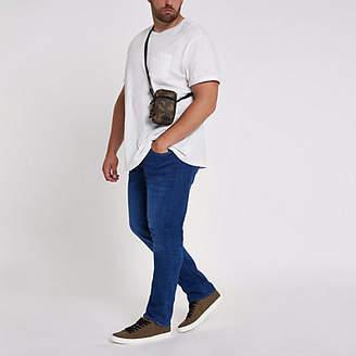 River Island Mens Big and Tall Blue Seth slim fit jeans