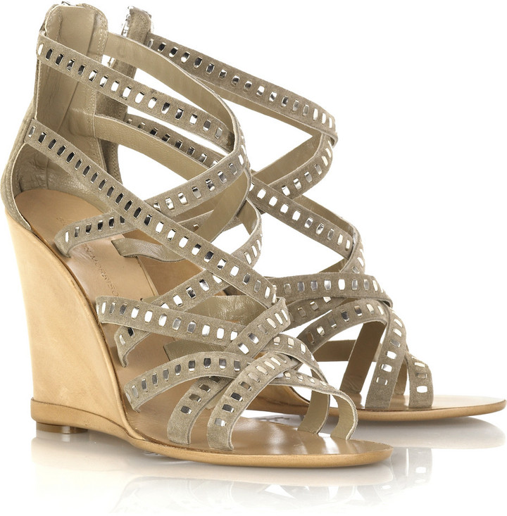 Sigerson Morrison Studded wedge sandals