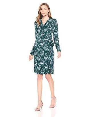 4960b30ac3 Lark   Ro Women s Signature Long Sleeve Wrap Dress