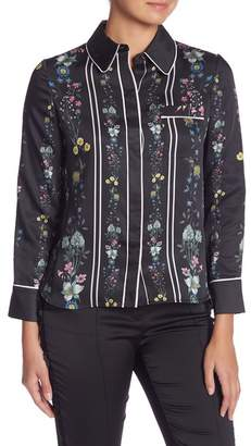 Ted Baker Unity Floral Piping Shirt